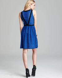 Marc By Marc Jacobs Blue Collage Lace Color Block Dress