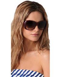 Marc Jacobs Purple Bow Detail Sunglasses