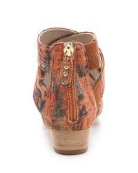 Matt Bernson | Red Delphine Cork Wedge Sandals | Lyst