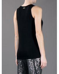 Michael Kors Black Plain Vest Top