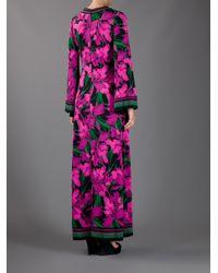 Michael Kors Pink Peony Print Maxi Dress