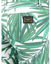 Michael Kors Green Palm Leaf Print Trouser