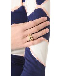 Michael Kors Metallic Grayson Pave Ring Set