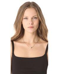 Michael Kors - Metallic Interlocking Necklace - Lyst