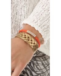 Michael Kors Orange Pave Macrame Bracelet