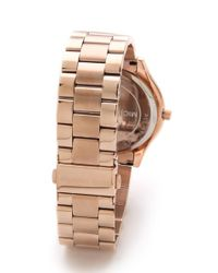 Michael Kors Pink Slim Runway Watch
