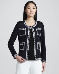 Misook - White Womens Adrienne Intarsia Jacket - Lyst