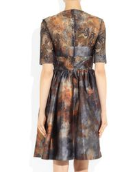 Mulberry | Multicolor Tie Dye Satin and Lace Dress | Lyst