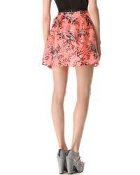 Nanette Lepore Pink Digital Skirt