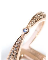 Noor Fares Metallic Champagne Diamond Gold Rhombus Ring