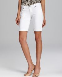 PAIGE Shorts Jax Knee in Optic White