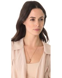 Pamela Love Pink Mini Arrowhead Pendant Necklace