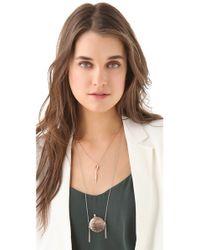 Pamela Love - Pink Dart Necklace - Lyst