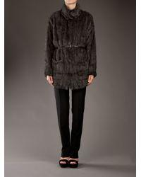 P.A.R.O.S.H. | Gray Mink Coat | Lyst