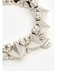 Philippe Audibert - Metallic 'jose' Spike And Bead Elasticated Bracelet - Lyst
