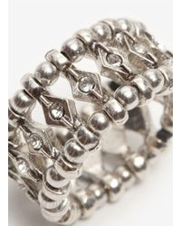 Philippe Audibert - Metallic Elixia Crystal And Bead Elasticated Ring - Lyst