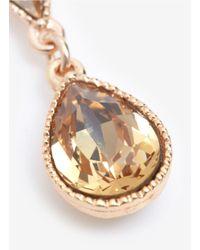 Philippe Audibert   Metallic Tear Drop Crystal Earrings   Lyst