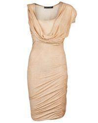 Plein Sud Jeanius | Natural Drape Sleeve Dress | Lyst