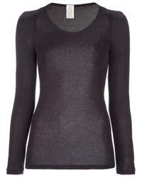 Polo Ralph Lauren | Brown Puff Sleeve Top | Lyst
