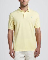 Polo Ralph Lauren Yellow Shortsleeve Pique Polo Corn for men