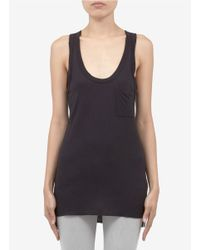 Rag & Bone Black Jersey Pocket Tank Top