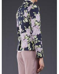 Rag & Bone Blue Floral Jacket