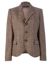 Ralph Lauren Blue Label Brown Checked Blazer Jacket