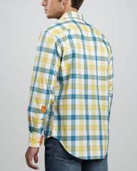 Robert Graham Yellow Wipeout Longsleeve Sport Shirt for men