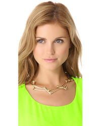 Rose Pierre - Metallic Bamboo Jungle Collar Necklace - Lyst