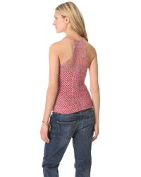 See By Chloé - Red Racer Back Knit Tank - Lyst