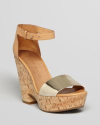 See By Chloé Natural Wedges Bensano Cork Heel
