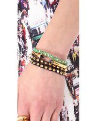 Shashi | Metallic Sarah Yellow Nugget Bracelet | Lyst