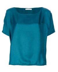 Societe Anonyme - Blue Silk T-Shirt - Lyst