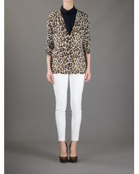Stella McCartney Brown Leopard Print Cardigan