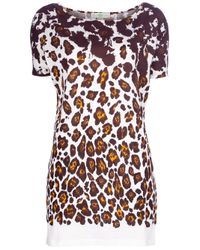 Stella McCartney Multicolor Leopard Print Tshirt