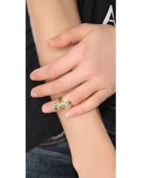 Sunahara - Metallic Turquoise Double Mid Knuckle Ring - Lyst