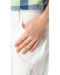 Sunahara - Metallic Turquoise Eye Mid Knuckle Ring - Lyst