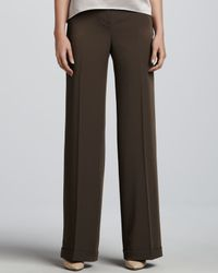 T Tahari Black Nevin Wideleg Pants