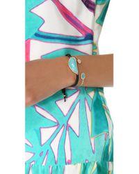 Tai | Blue Large Pave Stone Bracelet | Lyst