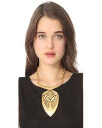 Theodora & Callum Metallic Palapa Necklace
