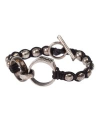 Tobias Wistisen | Black Ring Detail Bracelet for Men | Lyst