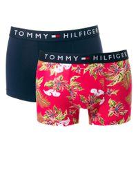 Tommy Hilfiger - Blue Flag Parnell 2 Pack Trunks for Men - Lyst