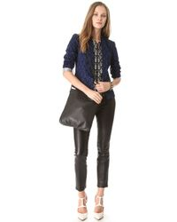 Tory Burch Black Stacked T Book Bag
