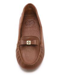 Tory Burch Brown Ludlow Driving Loafers