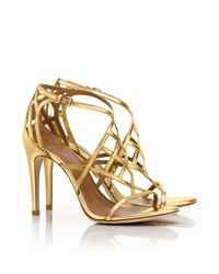 Tory Burch Metallic Amalie High Heel Sandal