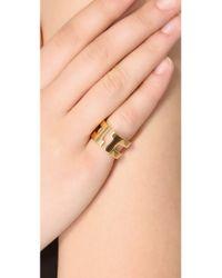 Tory Burch - Metallic Tripp Metal Ring - Lyst