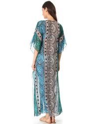 Tory Burch - Multicolor Tofino Long Caftan Cover Up - Lyst