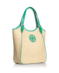 Tory Burch Green Small Slouchy Tote
