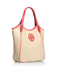 Tory Burch Red Small Slouchy Tote