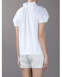 Tory Burch White Sea Horse Embellished Shirt